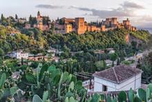 Sunset View Over Granada, Alha...