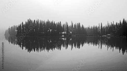 Poster Morning with fog Lake Louise