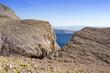 Mountain with sea with blue sky, Baska island Krk, Croatia