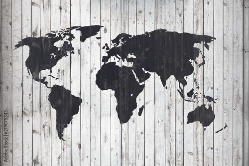 Plakaty kula ziemska   mapa-na-deskach