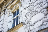 An old dilapidated building facade