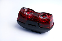 Safety Lights For The Bicycle Isolated On A White Background