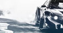 Blurred Sport Car Drifting On ...