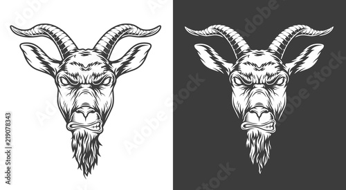 Monochrome goat icon Canvas Print