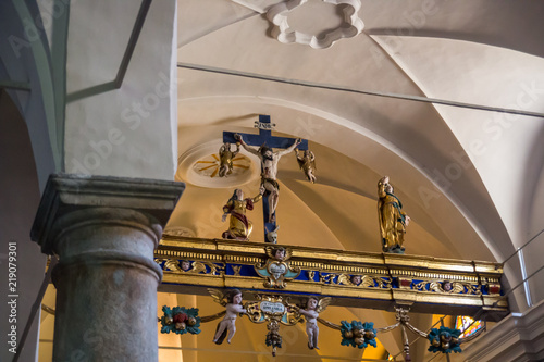 Fotografie, Obraz  Chiesa parrocchiale di San Giacomo, Issime, Valle d'Aosta, Aosta, Italia