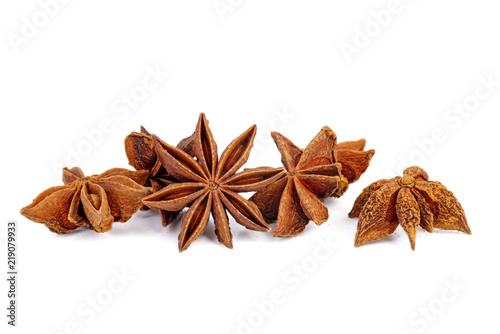 Dried anise stars Canvas Print
