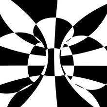 Black And White Checkered Torus. Vector Illustration