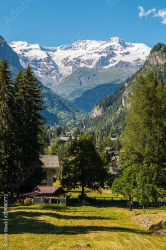 Foto op Canvas Zuid Afrika Scorci di Gressoney, Aosta, Valle d'Aosta, Italia