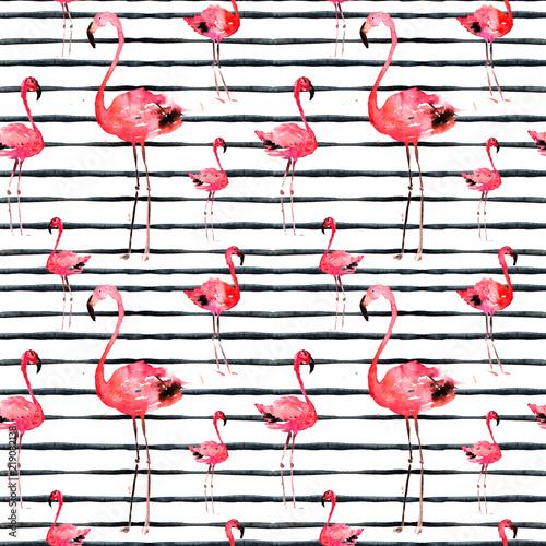 recznie-rysowane-illlustration-z-flamingo-i-stripes-motyw-egzotycznej-plazy-letniej-projekt-strojow-kapielowych-opakowanie-tlo-tapeta