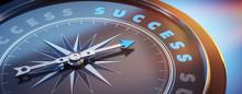 Dunkler Kompass Mit Lichtspiel - Success