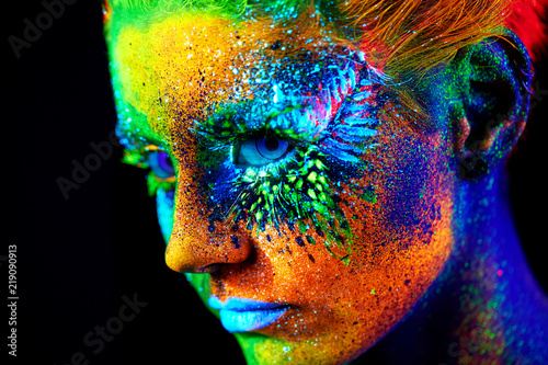 Obraz close up UV portrait  - fototapety do salonu