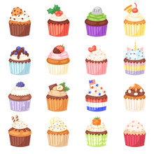 Cupcake Vector Muffin And Swee...