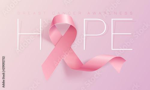 Breast cancer awareness symbol Billede på lærred