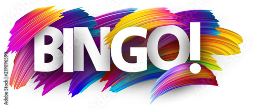 Bingo sign with colorful brush strokes. Wallpaper Mural