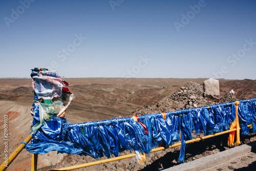 Fotografia, Obraz  Drapeaux de prière dans un lieu sacré du désert de Gobi
