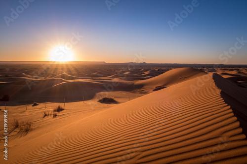 Photo  Sonnenaufgang in der Wüste von Marokko