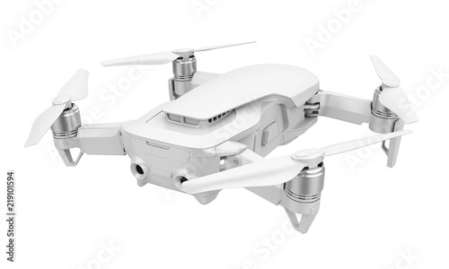Fotomural Drone Quadcopter Isolated