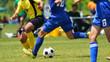 Leinwandbild Motiv サッカー フットボール