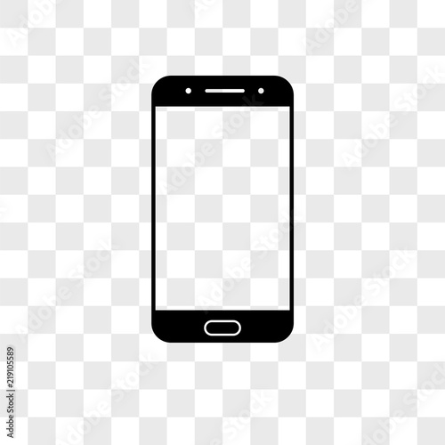 Fotografie, Obraz  Smartphone vector icon on transparent background, Smartphone icon