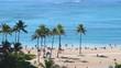View at Waikiki beach in Honolulu Hawaii in 4k slow motion 60fps