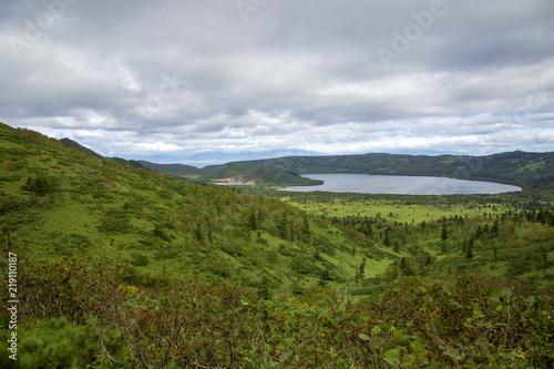 Foto op Plexiglas Bleke violet landscape