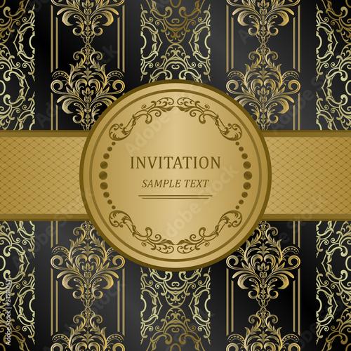 Fototapeta Elegant Invitation Cards Vector Illustration Islam Turkish Indian Arabic