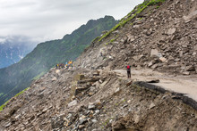 Landslide On The Manali - Leh ...