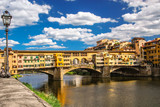 Ponte Vecchio the famous Arch bridge in Florence, Italy.