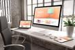 industrial office mockup responsive website creativity design