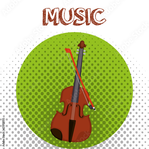 fiddle musical instrument icon - Buy this stock vector and