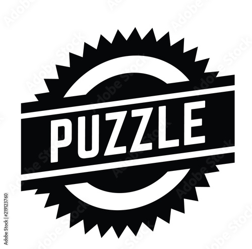 puzzle stamp on white Canvas Print