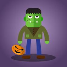 Frankenstein, Cute Halloween Character