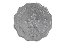 Hong Kong Coins Isolated On Wh...