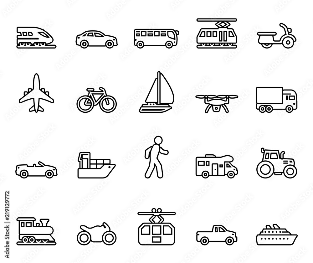 Fototapeta Traffic & Mobility - Iconset
