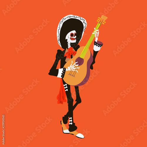 Photo  El mariachi skeleton musician