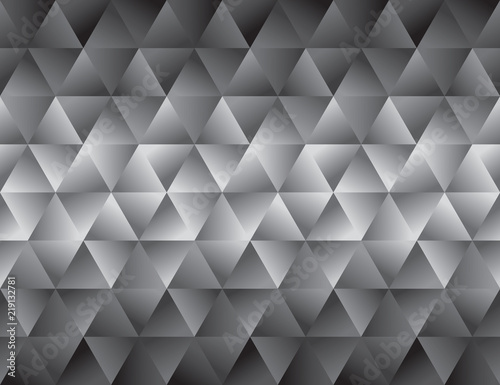 Gradient and degrade black geometric seamless pattern. Simple gray geometry vector motif for background, wrapping paper, fabric, surface design