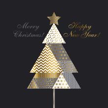 Vintage Style Christmas Tree P...
