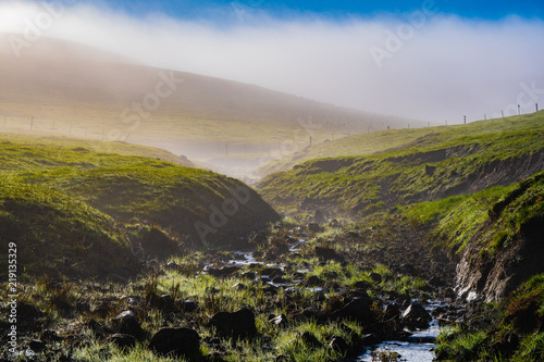 Staande foto Donkergrijs Farming landscape