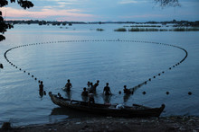 Fishers At The Ayeyarwady Rive...