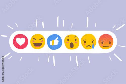 Emoji icon set . vector illustration . emoji icon Wallpaper Mural