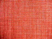 Texture Of Red Linen Or Nylon Fabric Texture.