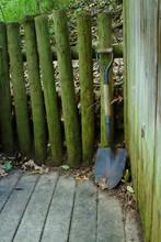 Old Metal And Wood Garden Shov...