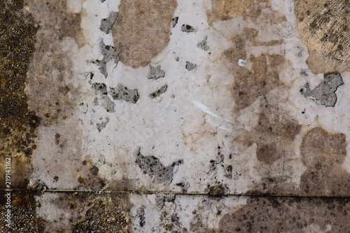 Poster Old dirty textured wall concrete or cement wall texture for background