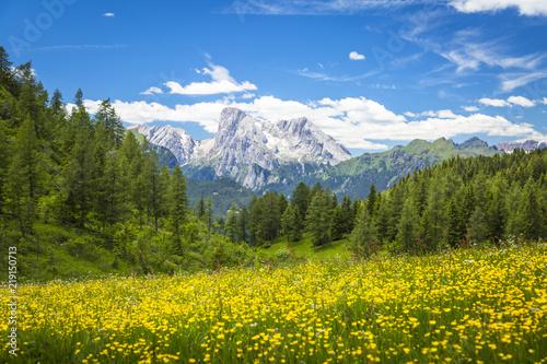 Fotografie, Obraz  Alpine landscape in the Dolomites, Italy.