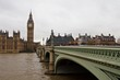 Tourists Walk Past Big Ben in London Across the Thames