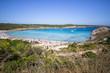 Son Parc beach in Menorca, Spain
