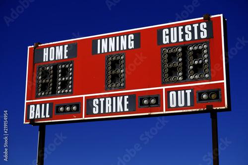 Baseball Scoreboard Ball Strike Home Inning