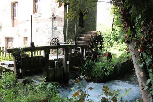 Fotografía  Normandie Veules-les-Roses moulin