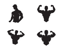 Fitness Logo Design Vector Ill...