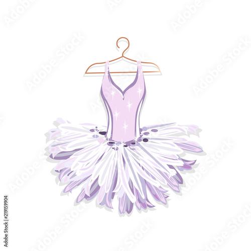 Ballet tutu on a hanger Billede på lærred